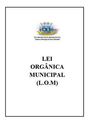 Lei Orgânica Municipal de Porto Murtinho - MS.png