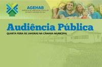 AGEAHB realiza Audiência Pública nesta quarta-feira 04/07 na Câmara Municipal.