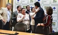 Em Brasília, vereadores se reúnem com o ministro Mandetta da saúde