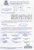 Moção de Aplauso a todos os Funcionários da Câmara Municipal de Porto Murtinho