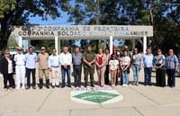Vereadoras participam de formatura de entrega de boina verde-oliva na 2ª Companhia de Fronteira.