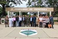 Vereadores participam da Solenidade de incorporação da 2ª CIA de Fronteira.