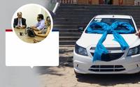 Vereadores, Zilda Duré e Flávio Abreu entregam veículo ao município adquirido através de emenda do Dep. Zé Teixeira.